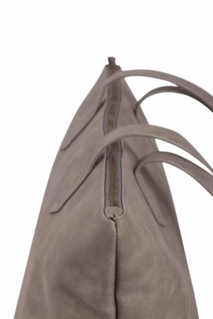 Zusss Stoere shopper L 36x46cm - warm grijs