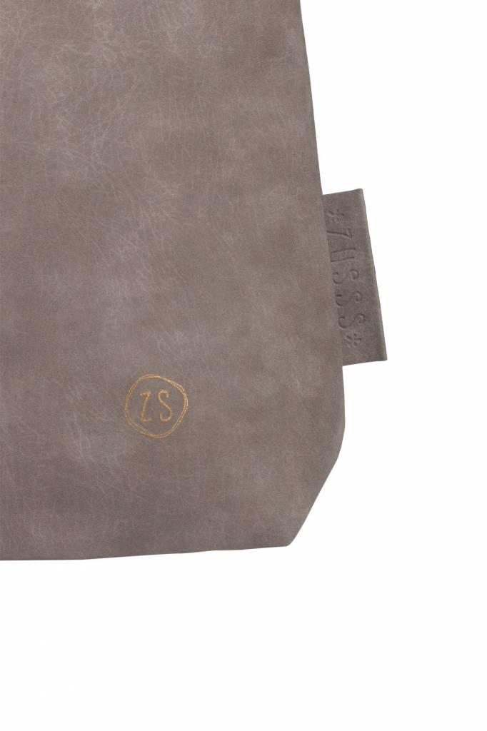 Zusss Royale handtas 27x37x12 cm - warm grijs -