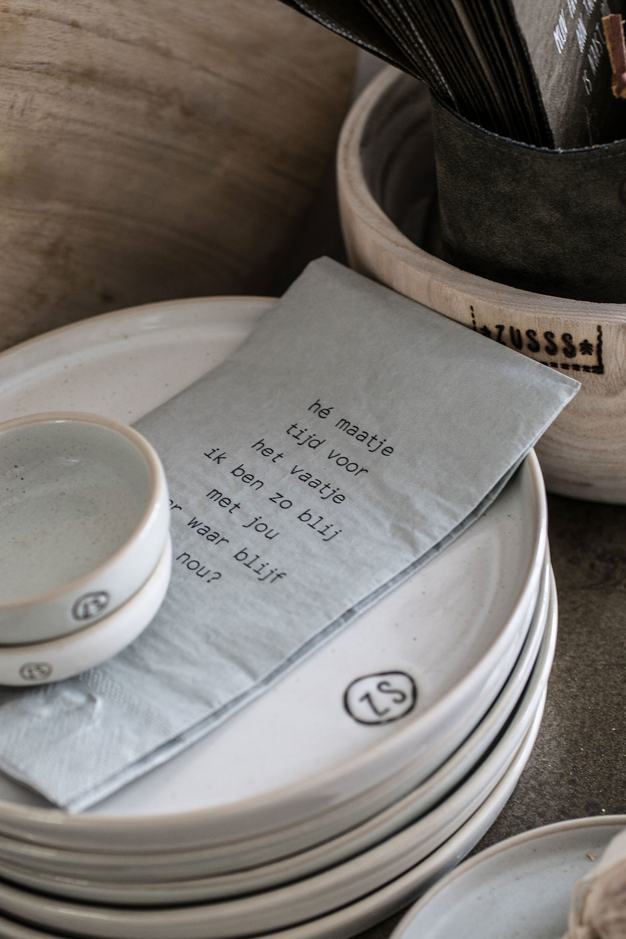 Zusss Ontbijtbord aardewerk -  wit