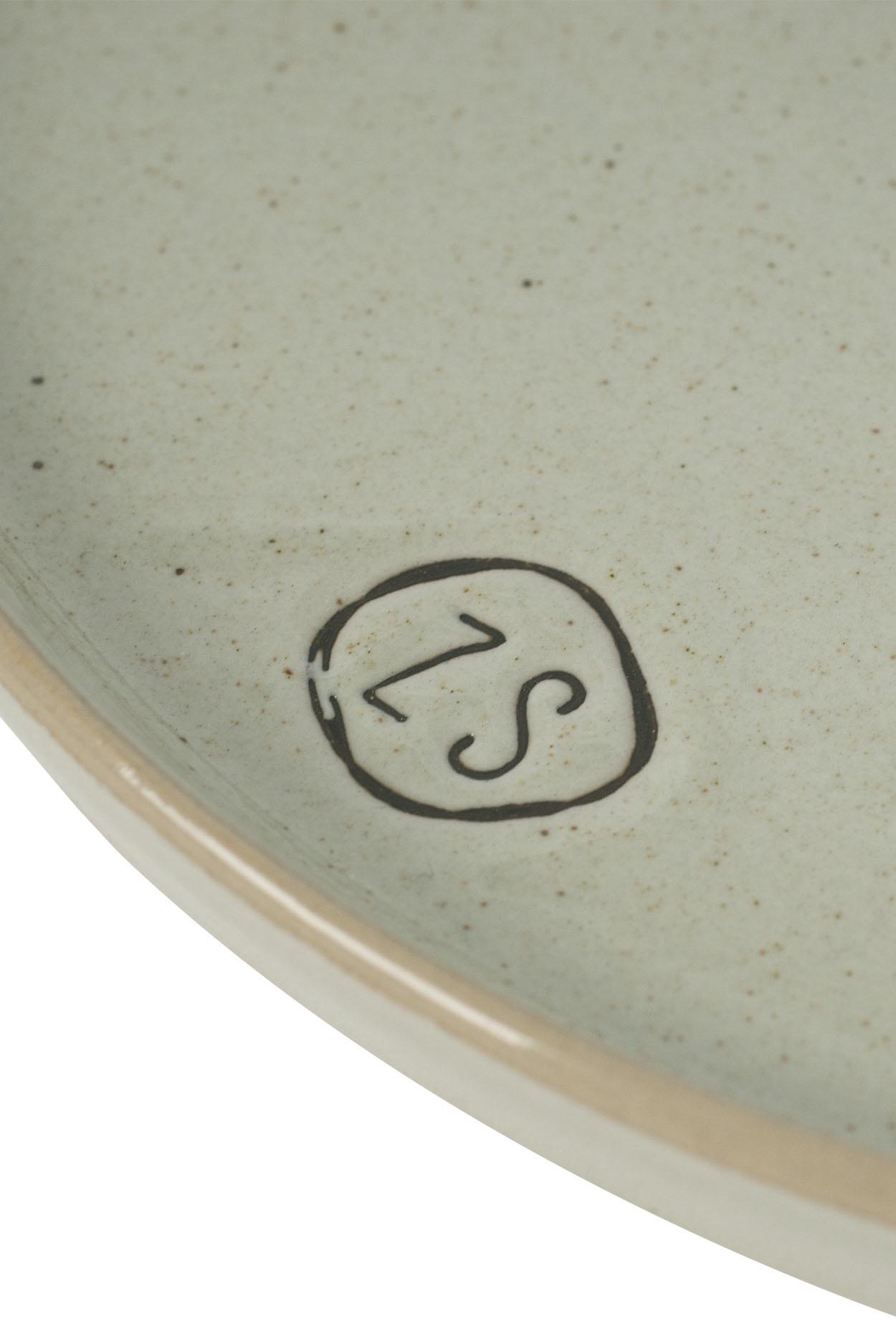 Zusss Ontbijtbord aardewerk -  grijs