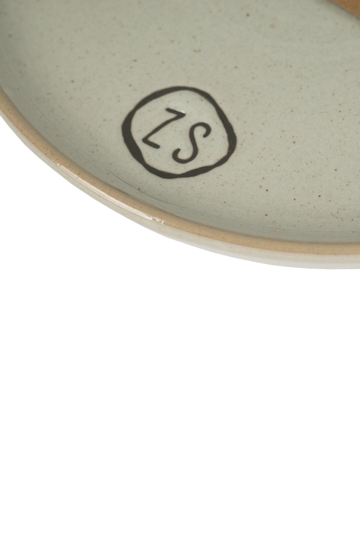 Zusss gebaksbordjes aardewerk -  grijs