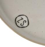 Zusss gebaksbordjes aardewerk -  wit
