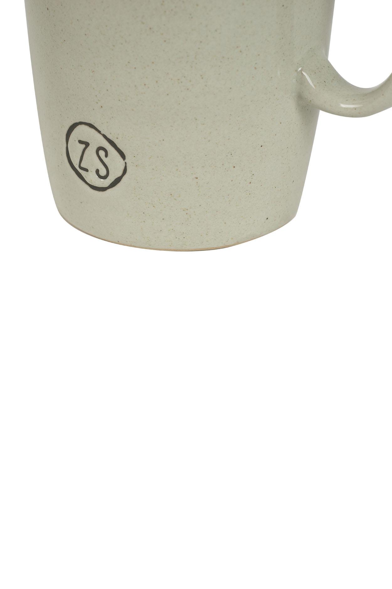 Zusss Theemok aardewerk -  grijs