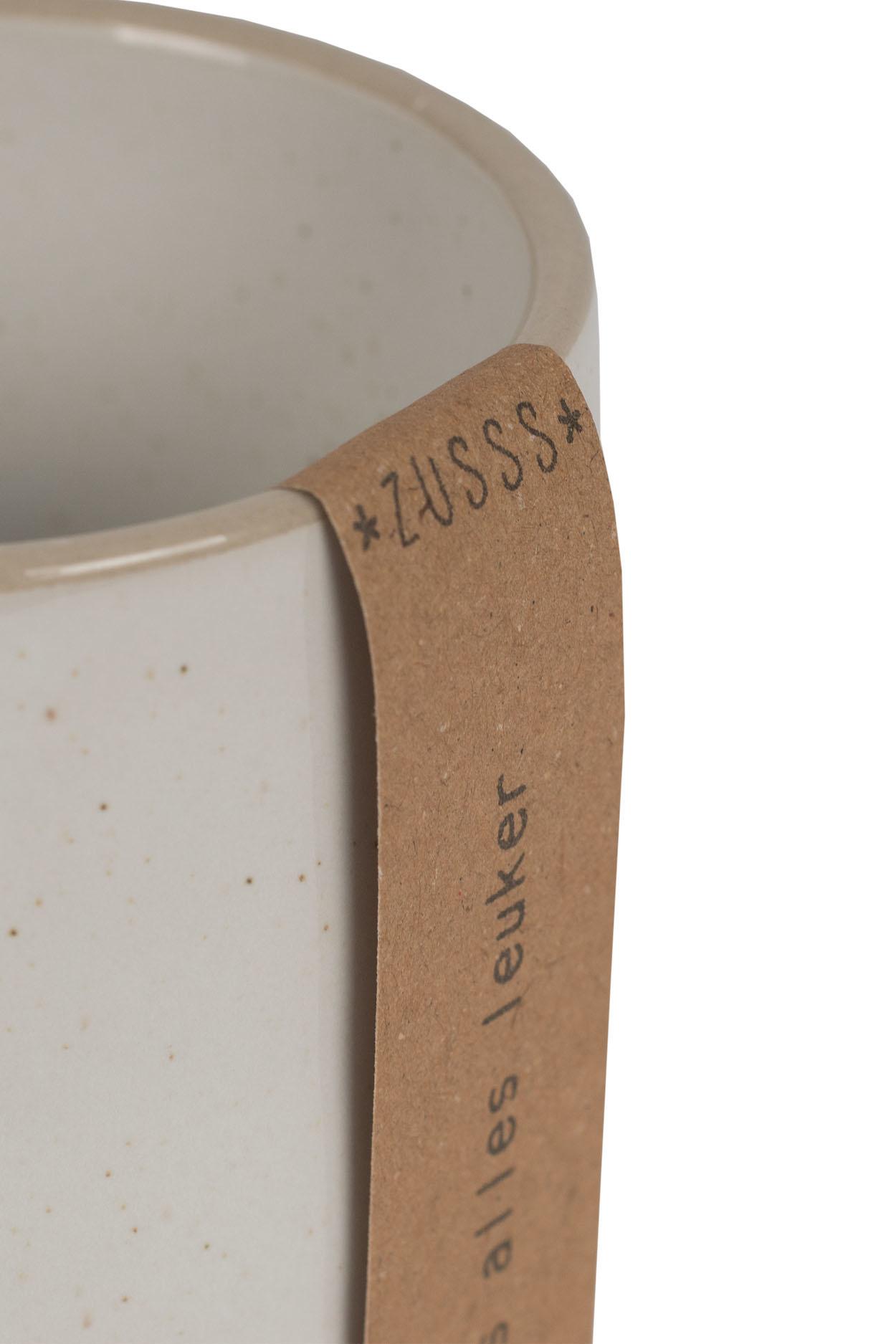 Zusss Koffiemok aardewerk -  wit