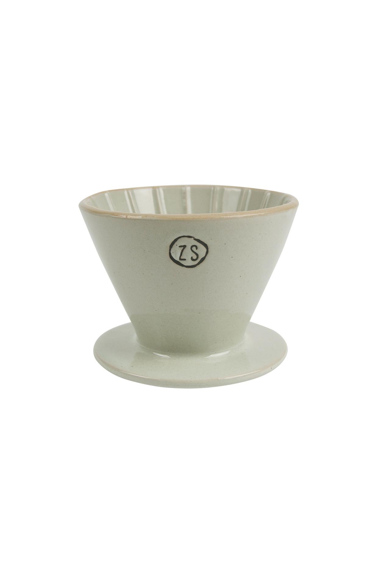 Zusss koffiefilterhouder aardewerk -  grijs
