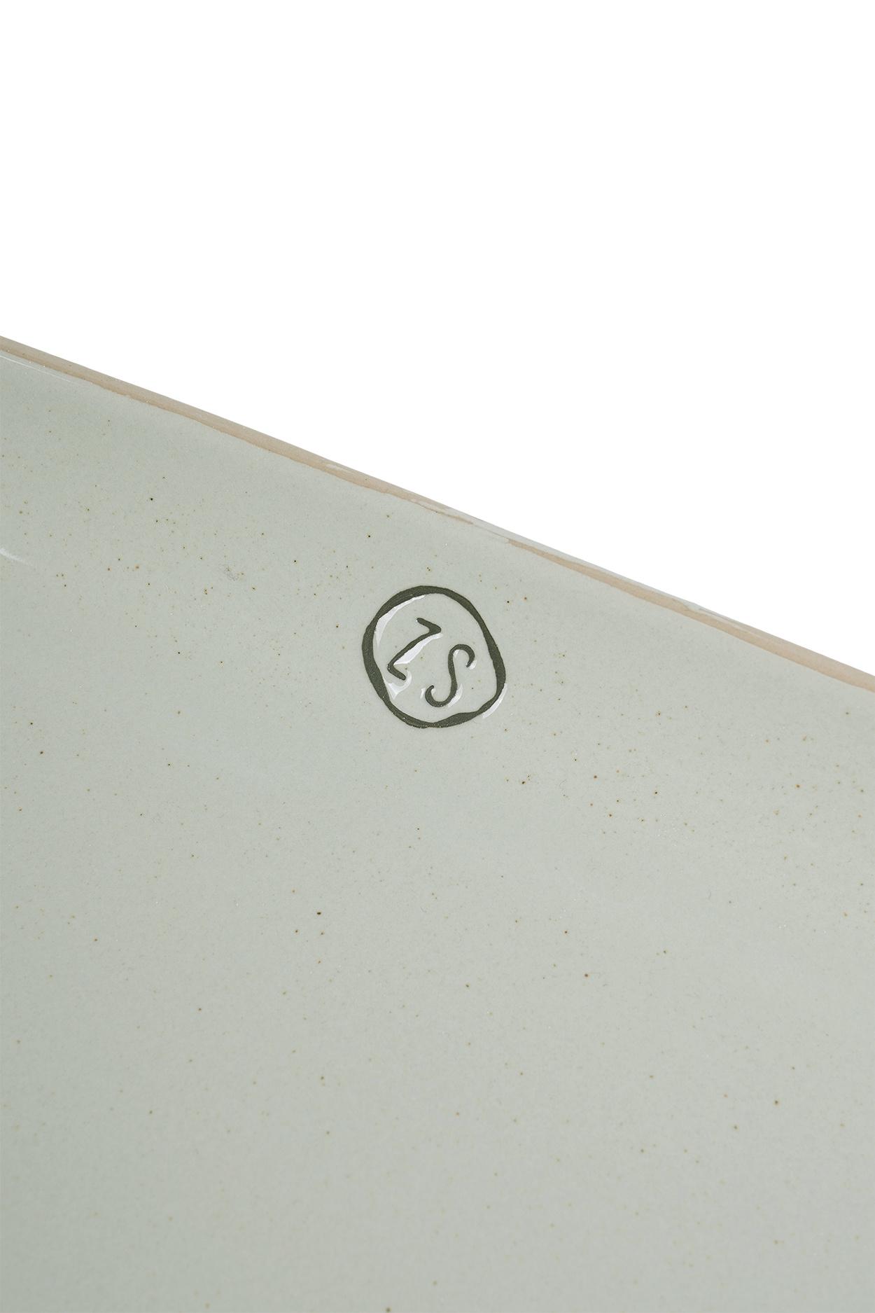 Zusss Schaal aardewerk langwerpig -  grijs