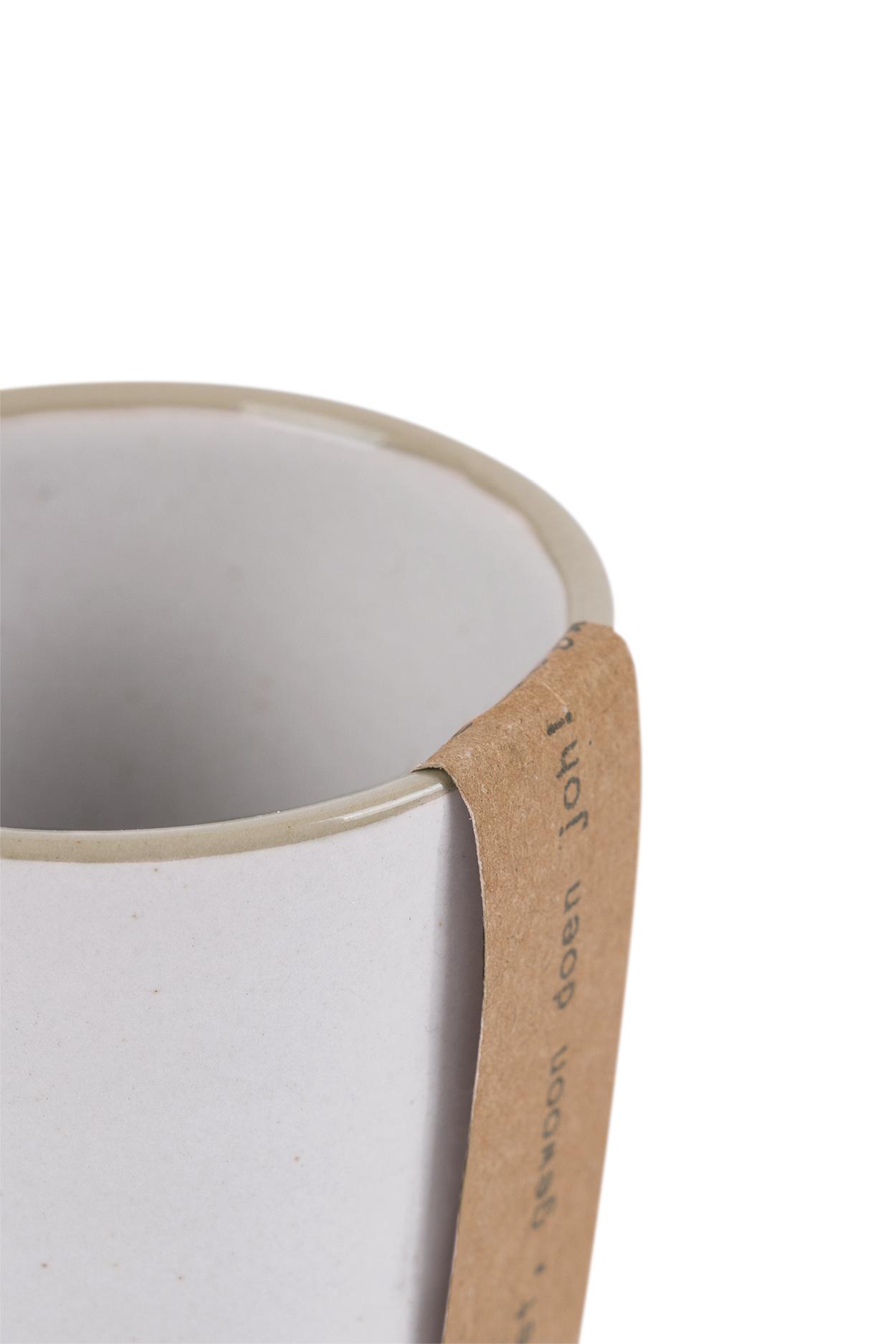 Zusss Espresso kopje aardewerk -  wit