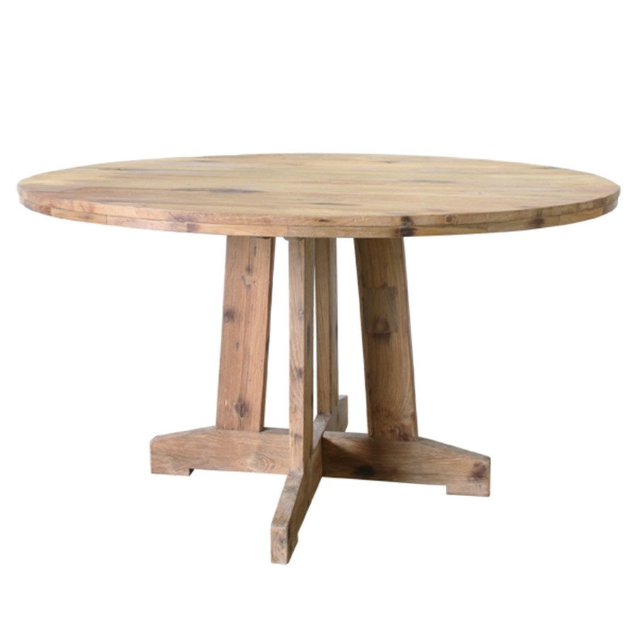HK Living Ronde tafel reclaimed teak 140x140x75cm, naturel