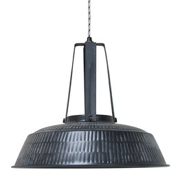 HK Living workshop lamp L rustiek mat zwart