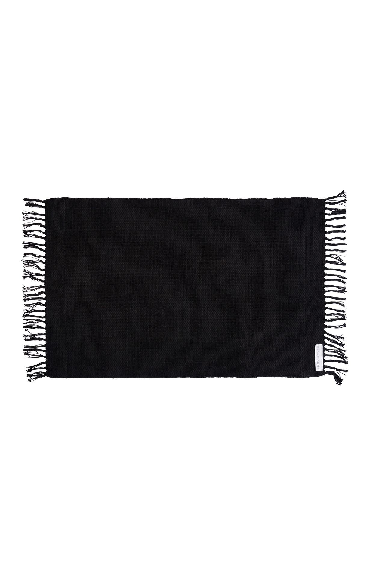 Zusss Vloerkleed katoen 60x90cm, zwart