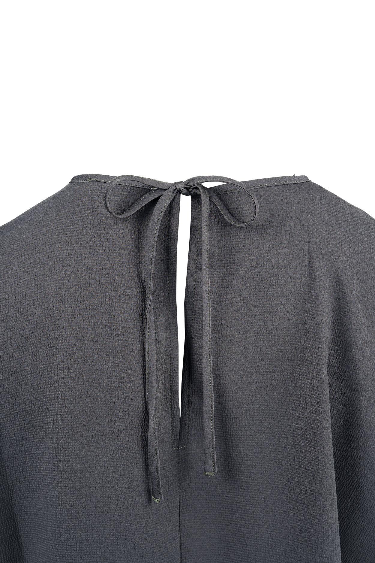 Zusss Hip frivool jurkje grijs-groen