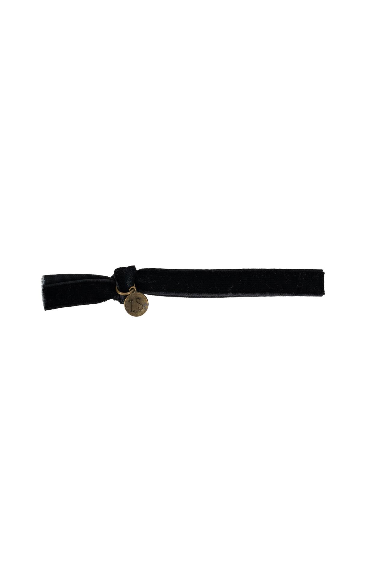 Zusss armband 24cm, fluweel - zwart