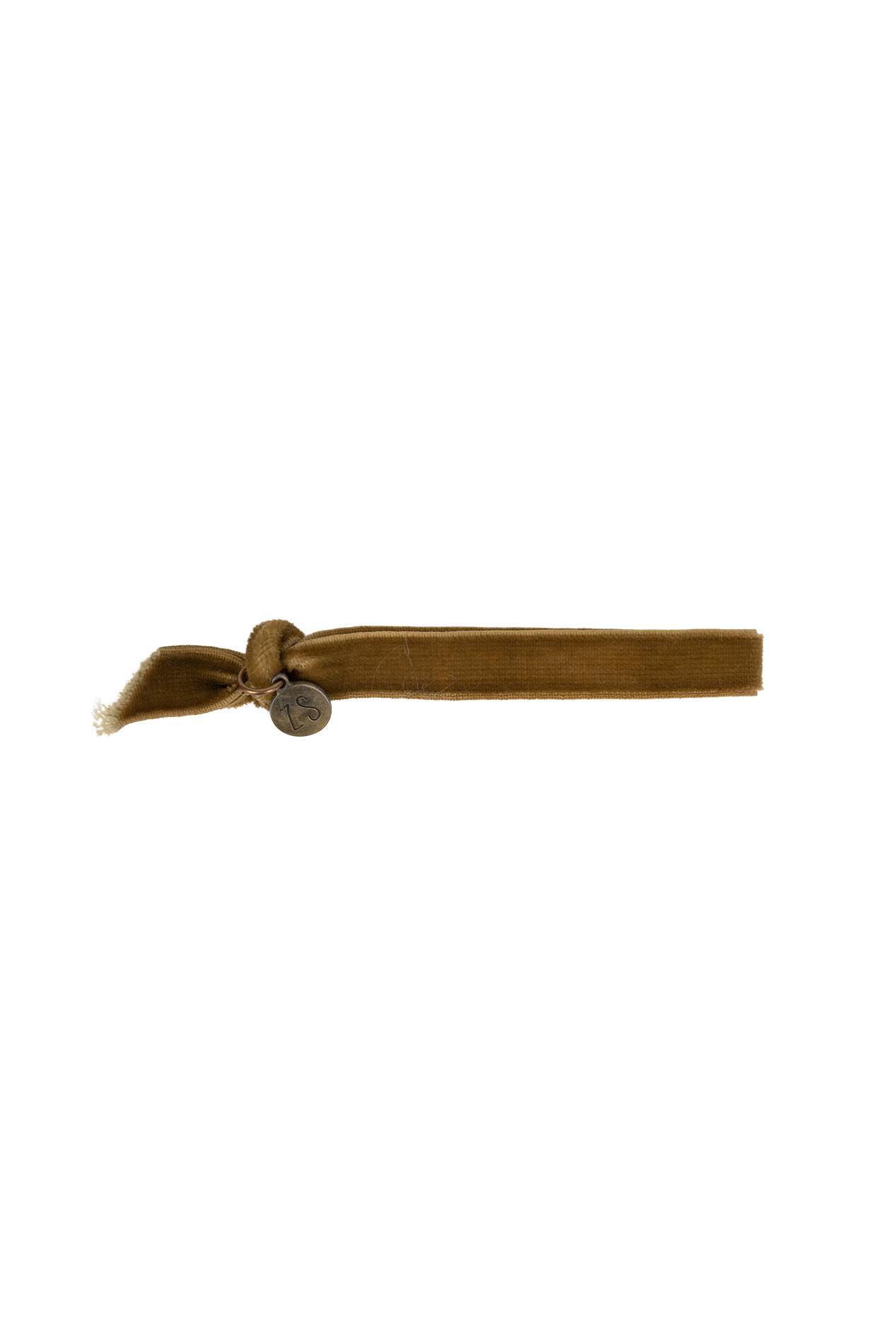 Zusss armband 24cm, fluweel - muskaat