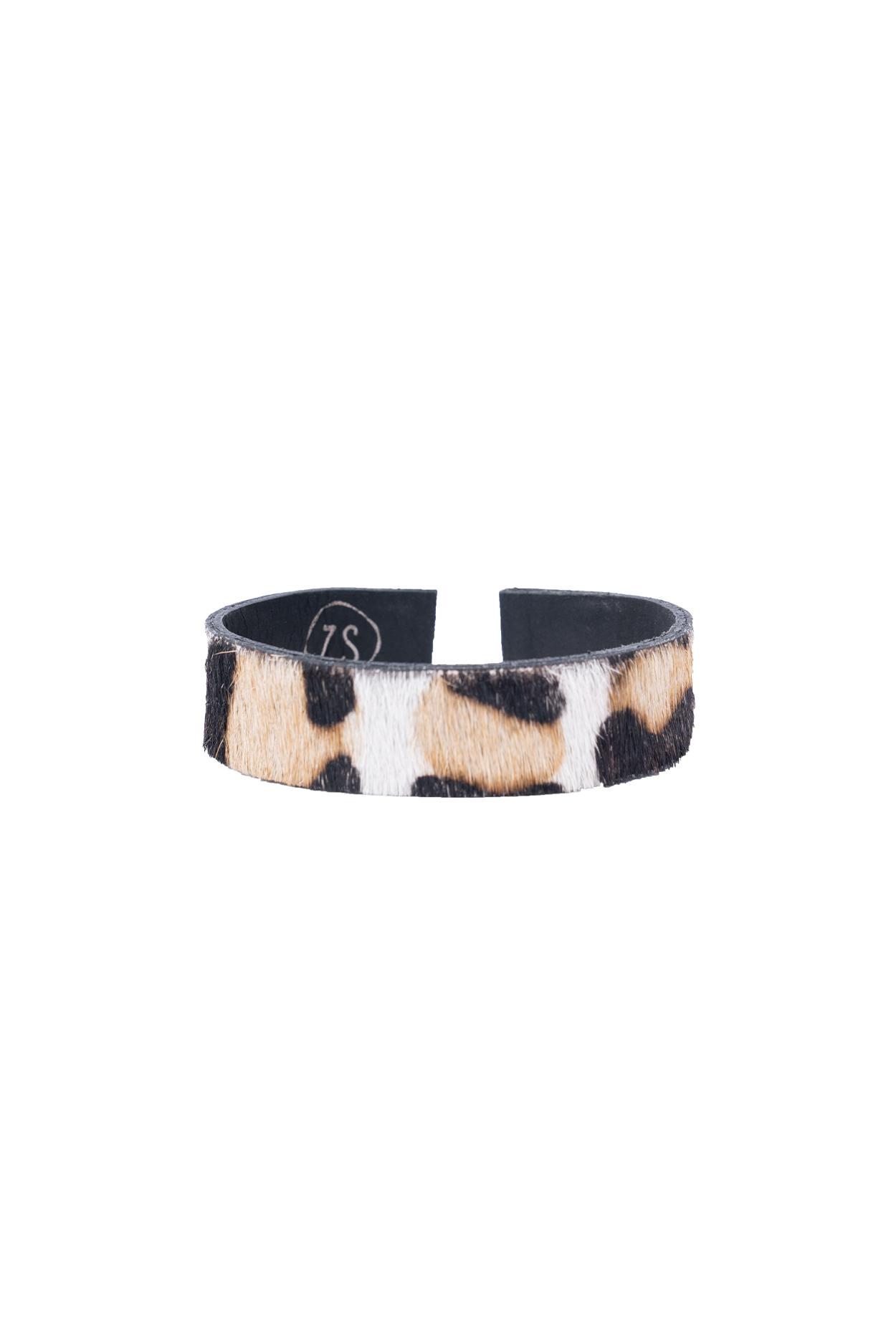 Zusss wikkelarmband vachtje - leopard