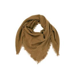 Zusss zachte vierkant sjaal gewafeld - muskaat