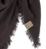 Zusss zachte vierkant sjaal gewafeld - zwart