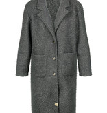 Zusss Warme wollige jas - grijs groen