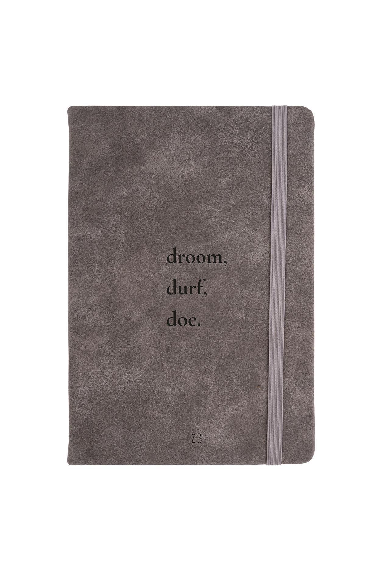 Zusss Notitieboek  droom - kleigrijs