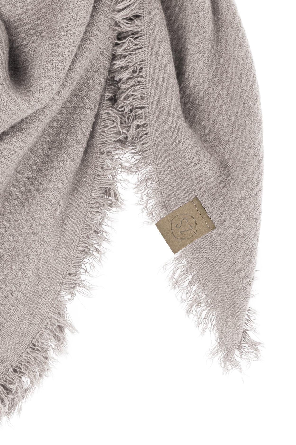 Zusss zachte vierkant sjaal gewafeld - krijt