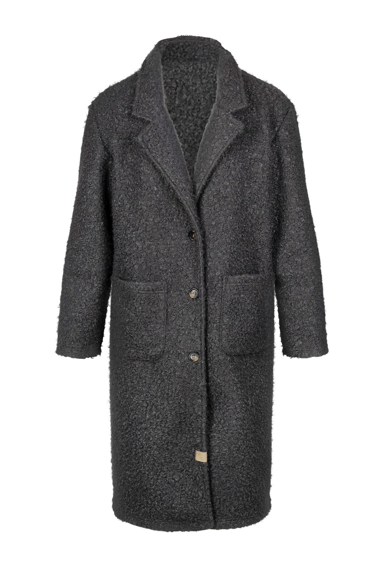 Zusss Warme wollige jas - steengrijs