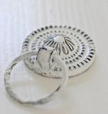 Harveys Kastknop 'ring pull' zwart/wit 3,5cm