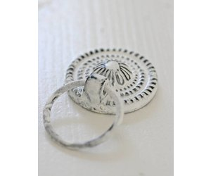 Kastknop Ring Pull Zwartwit 35cm
