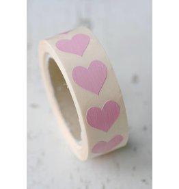 sticker hartje klein, roze, 10st