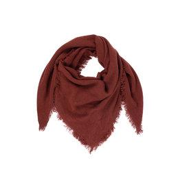 Zusss zachte vierkant sjaal gewafeld - roest