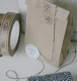 Papieren blokbodem zakjes 10,5x6x17cm, bruin, 10 stuks
