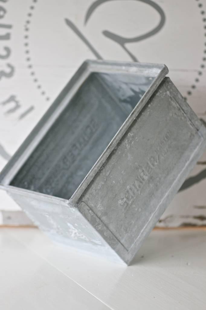 Zinken opbergbak maat M, 21x15x13cm