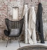 HKliving Rotan stoel outdoor 110x74x81cm, zwart