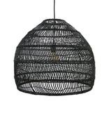 HK Living Wicker hanglamp M - zwart