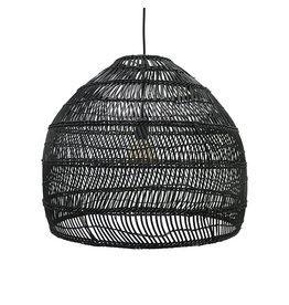 HKliving Wicker hanglamp M - zwart
