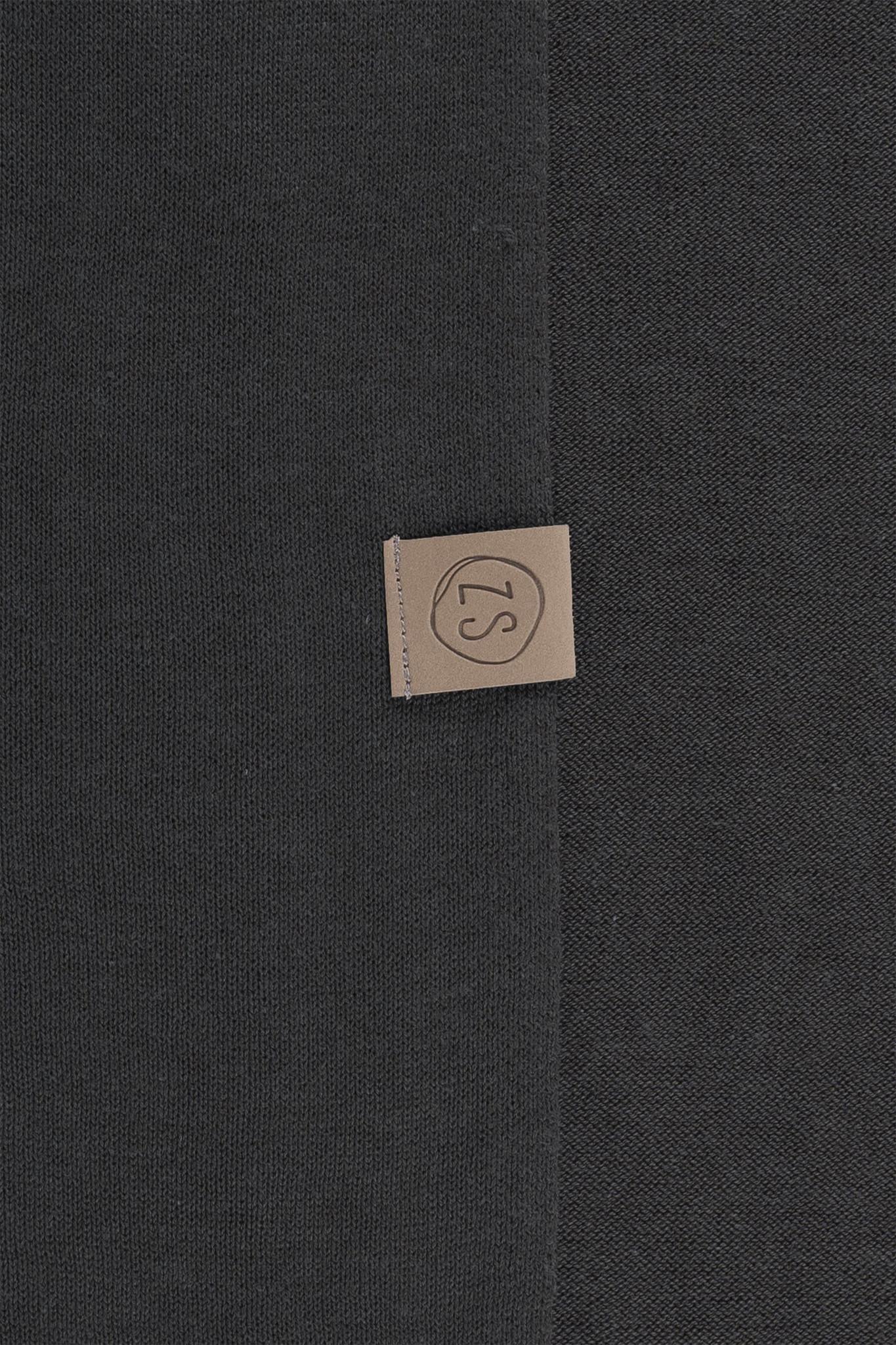 Zusss fijngebreide zachte sjaal - grafietgrijs