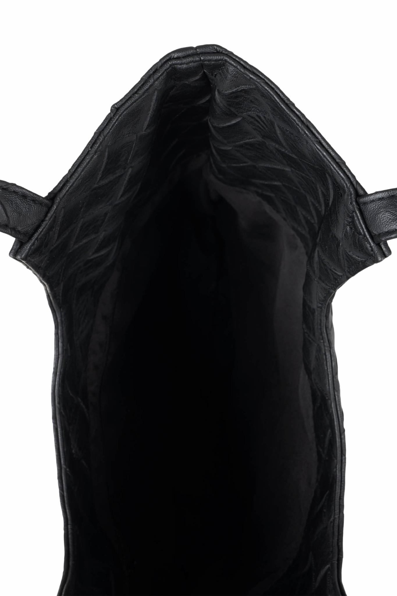 Zusss Kekke schoudertas gevlochten - zwart