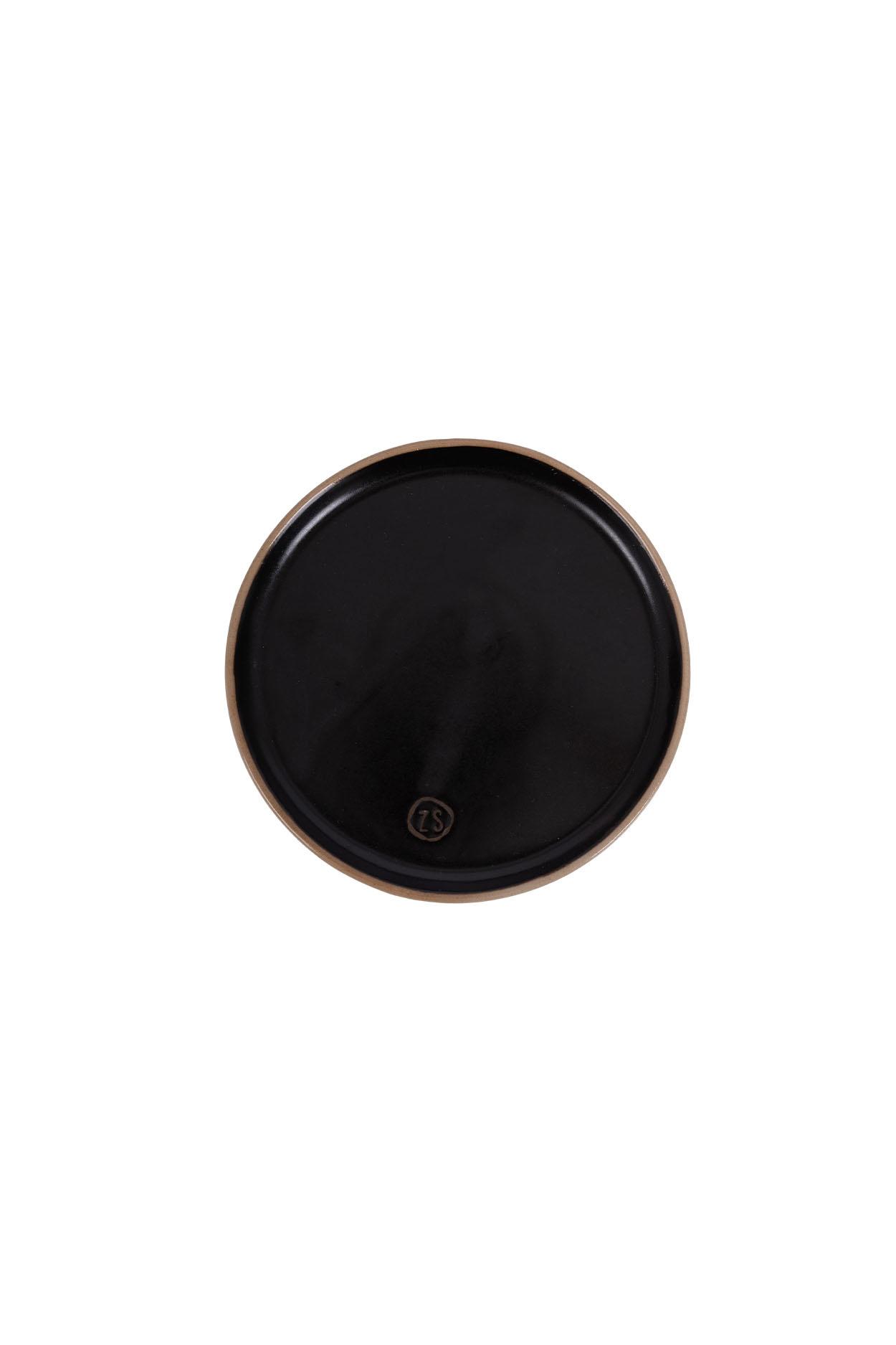 Zusss gebaksbordjes aardewerk -  zwart