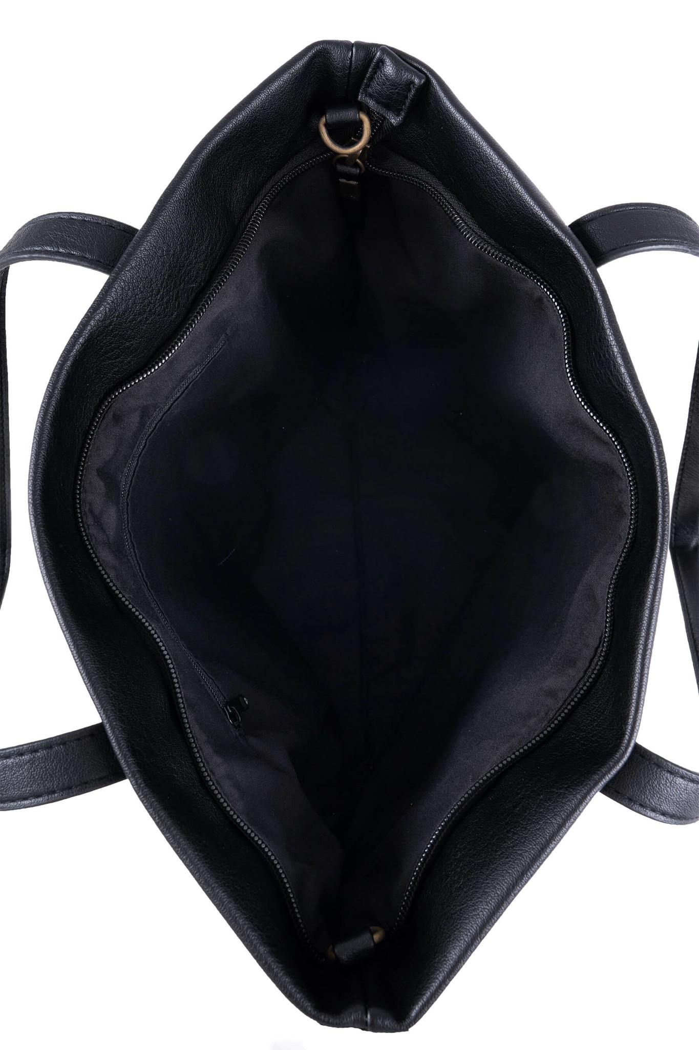 Zusss Basic shopper - zwart