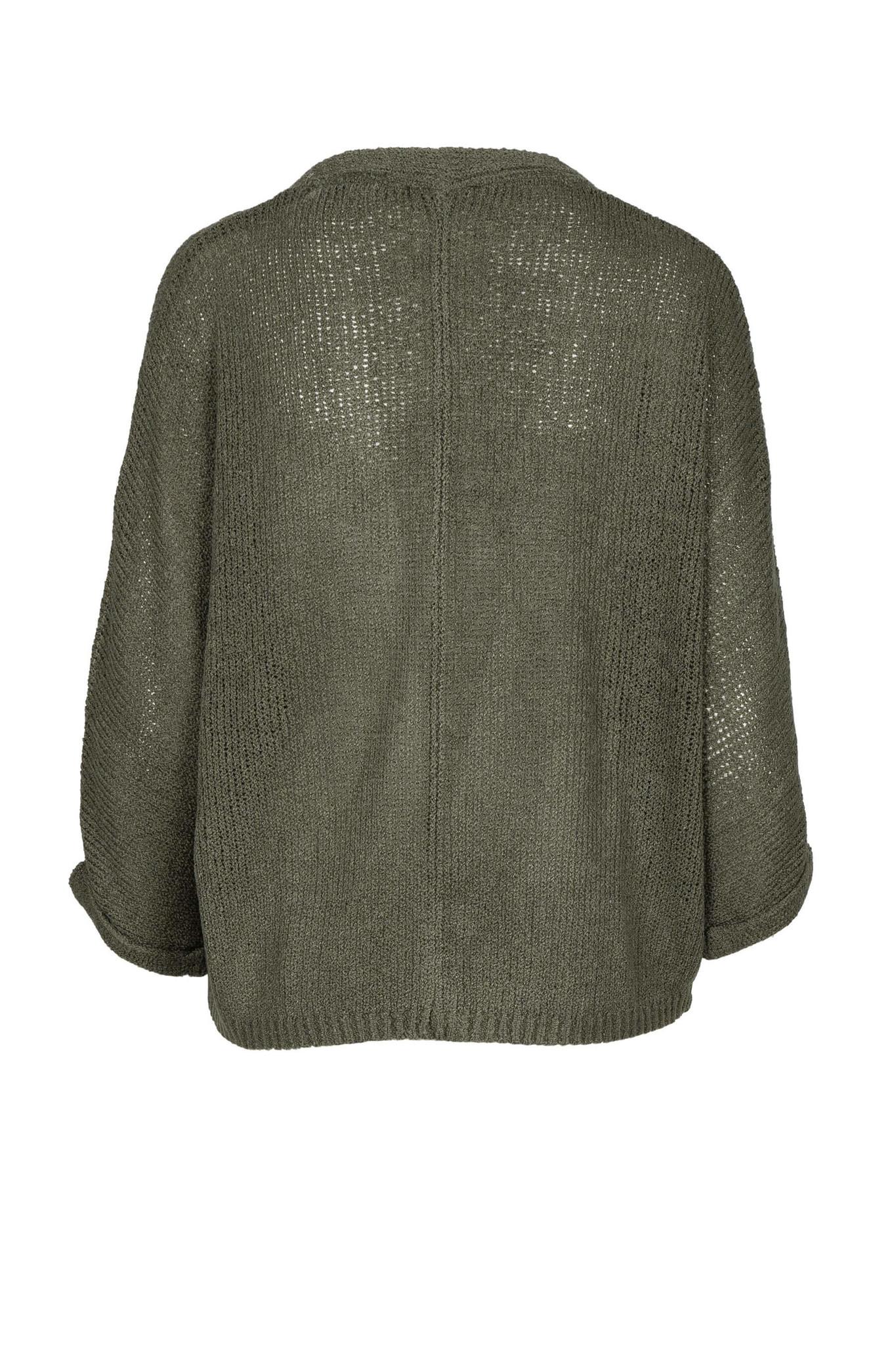 Zusss Nonchalant kort vestje - groen