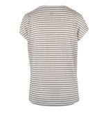 Zusss Tof basic t-shirt gesteept- zwart/zand
