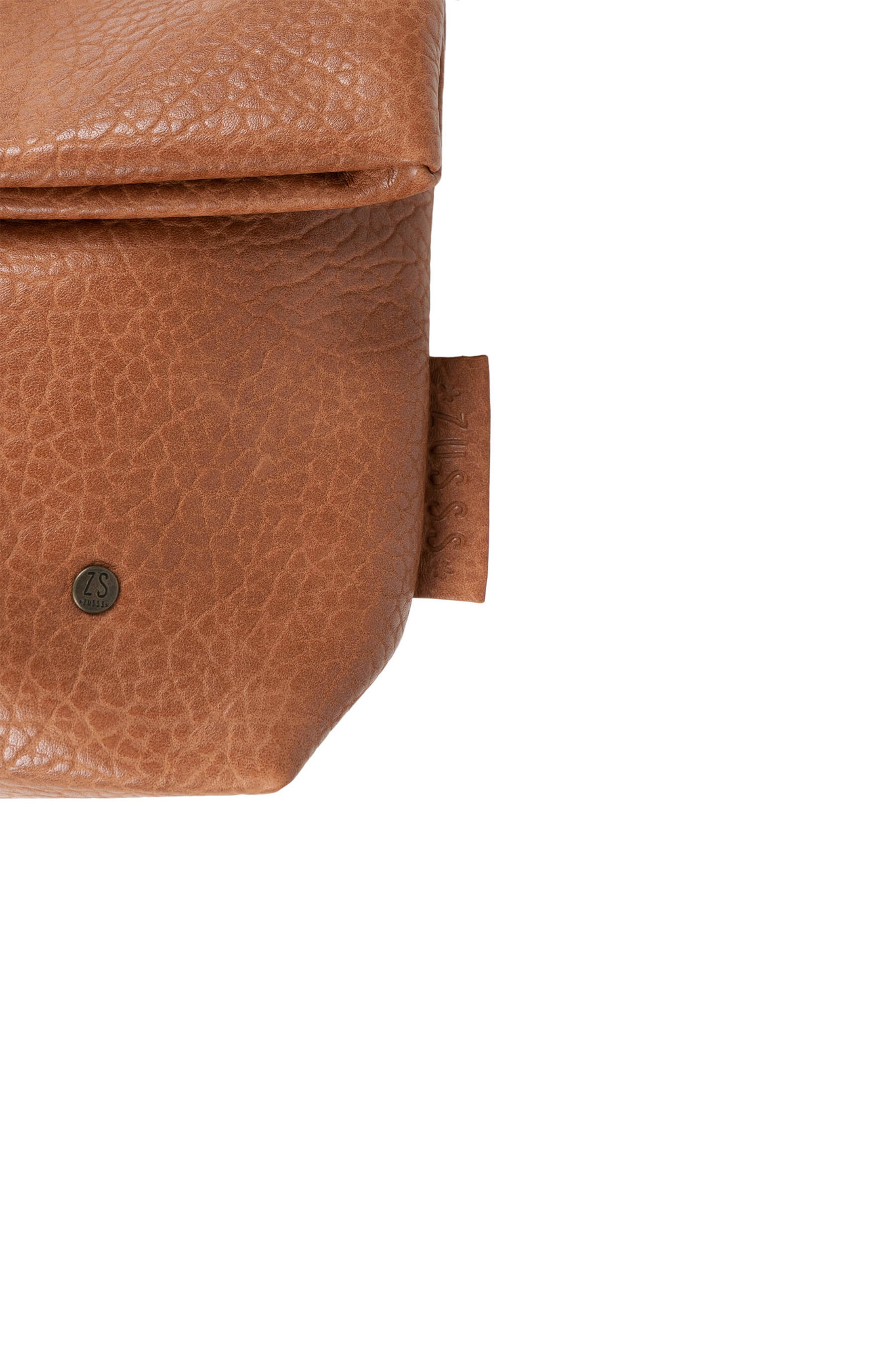 Zusss Basic shoudertas M - bruin gevlokt