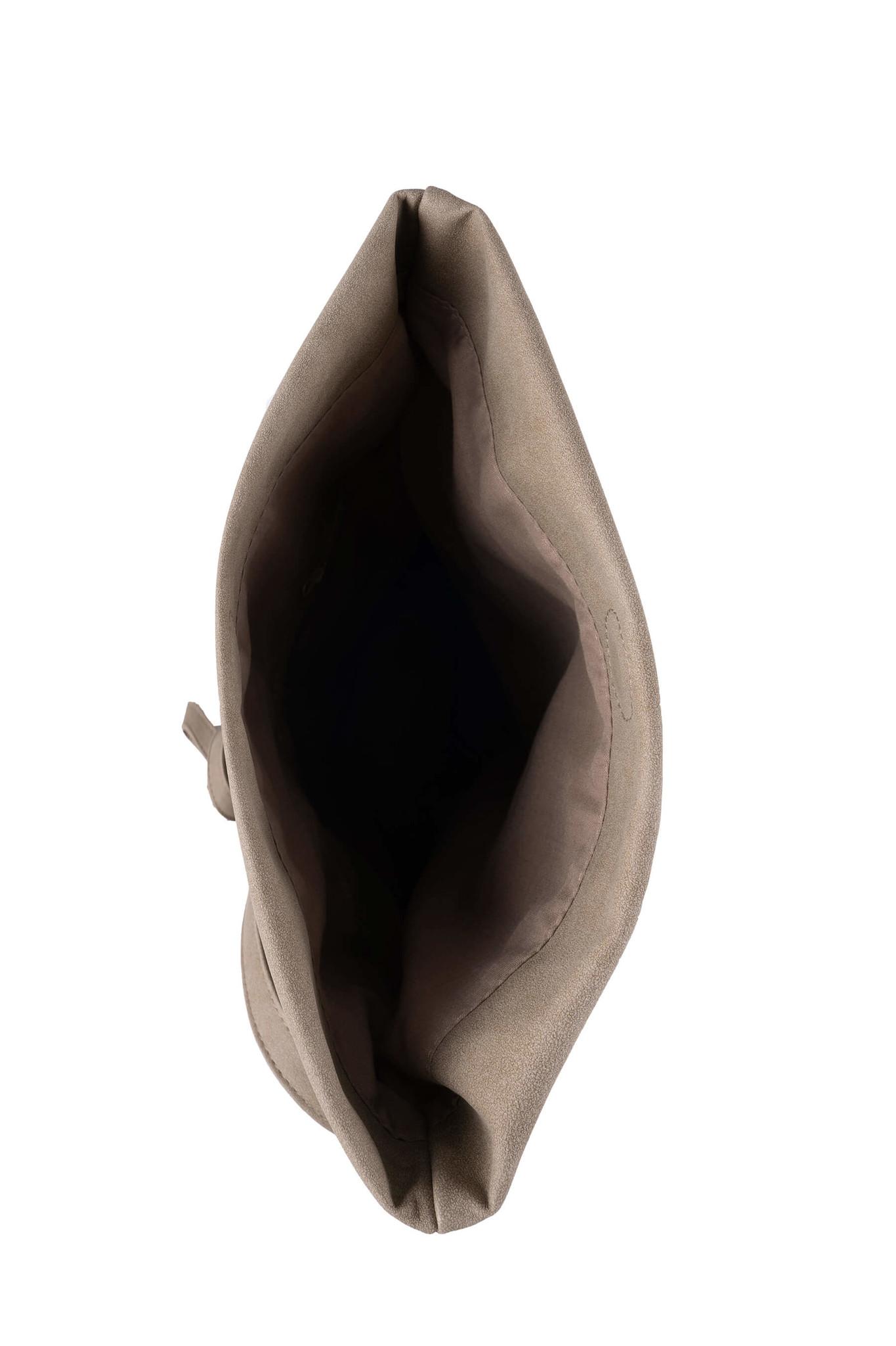 Zusss Basic shoudertas M - olijfgrijs