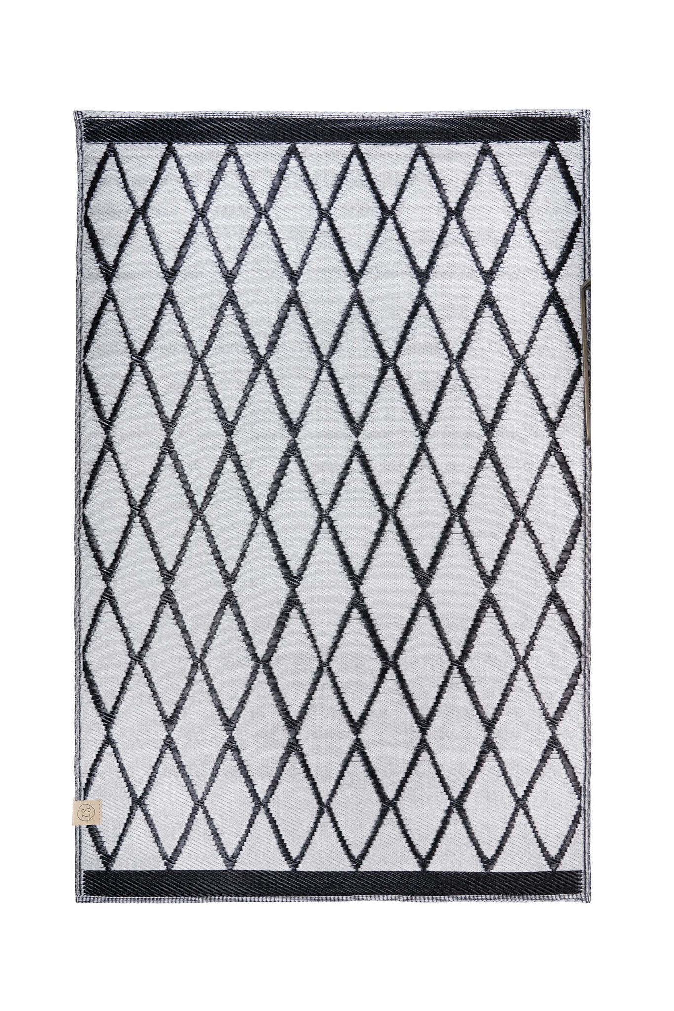 Zusss Buitenkleed 180x120 zwart/zand