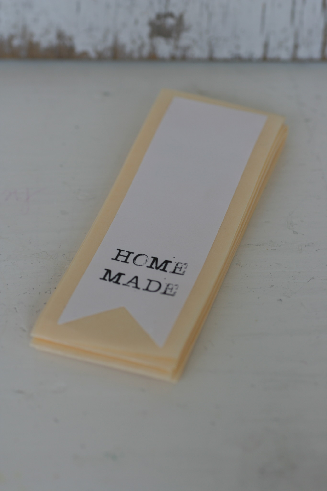 Etiket label sticker Homemade, 10 st