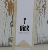 Etiket label sticker hier open maken, 10 st