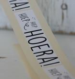 Rechthoekige sticker Hiep-hiep-hoera, 10 st