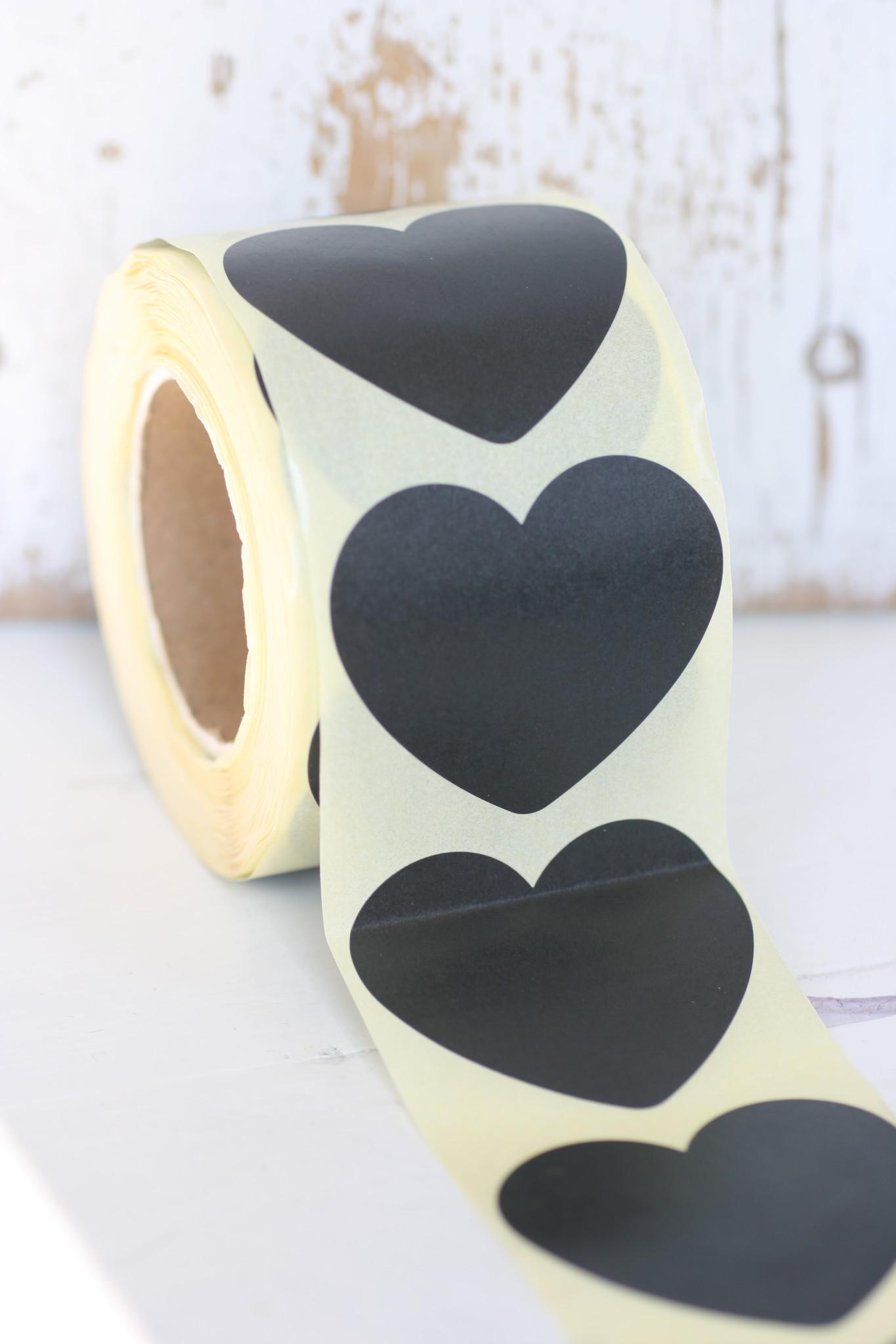 sticker hart groot XL, zwart, 10st