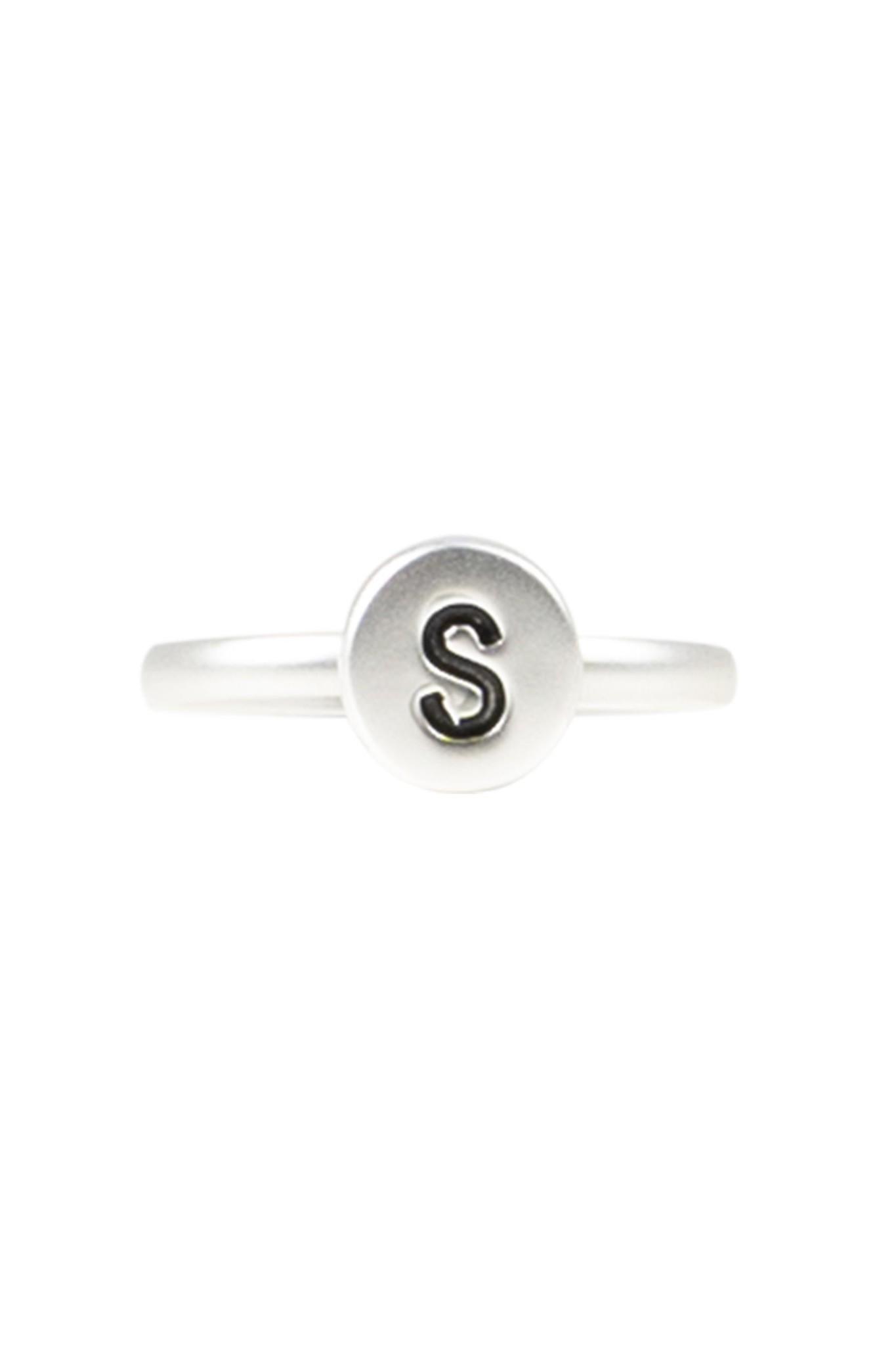 Zusss Initialen ring - zilver
