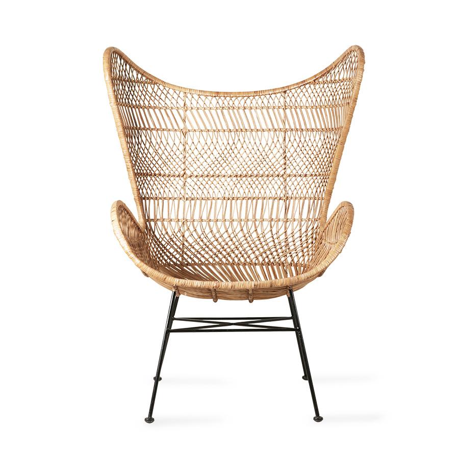 HK Living Rotan stoel bohemian 100x63x63cm, bruin
