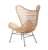 HKliving Rotan stoel bohemian 100x63x63cm, bruin