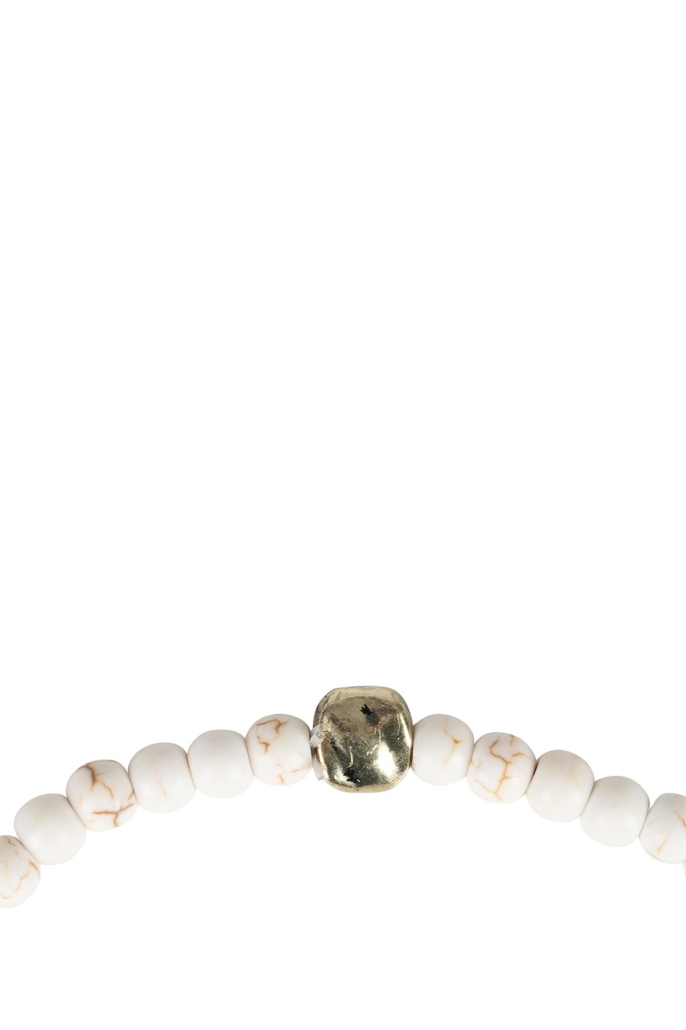 Zusss armband marmerkraal - wit